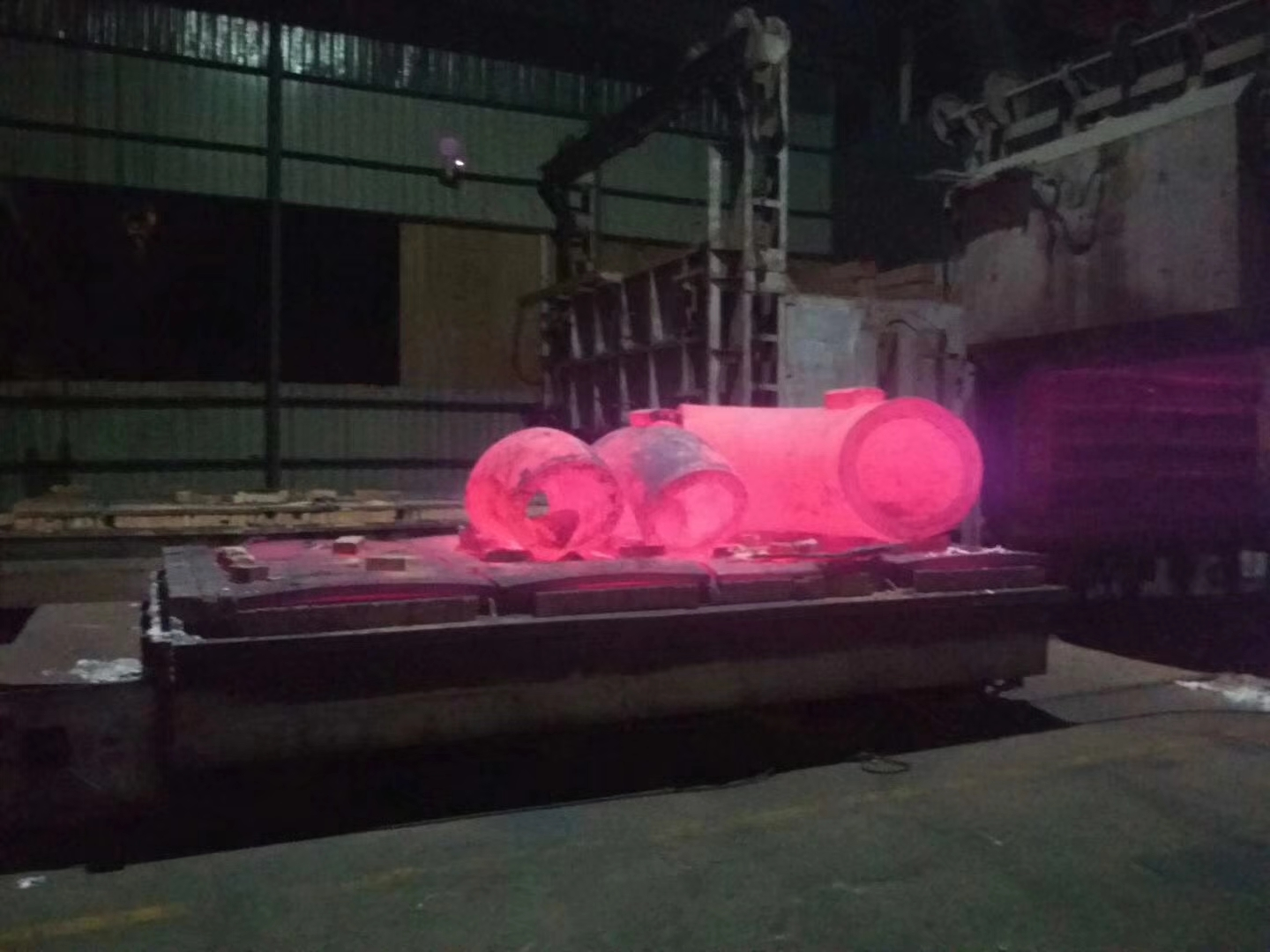 heat treatment of fittings or flanges